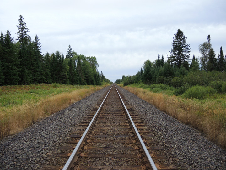 Sean McGrath Train Tracks at Three Lakes Road photo